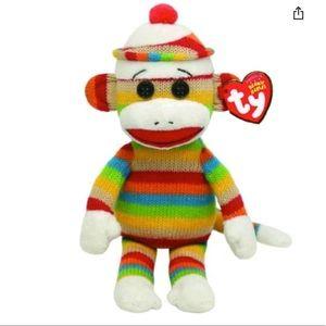 Socks the Sock Monkey Ty Beanie Baby